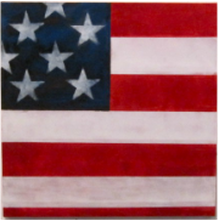 Rick Arnitz painting img of Squared American Flag